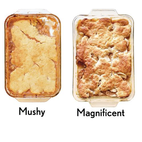 You use overripe fruit in cobblers and crisps