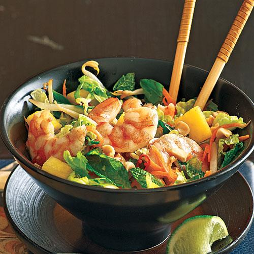 Lime Shrimp Salad with Bean Sprouts and Thai Basil