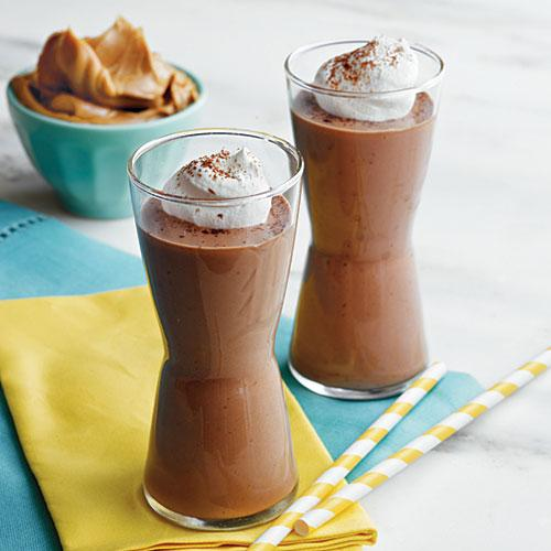 Peanut Butter, Banana, and Chocolate Smoothies