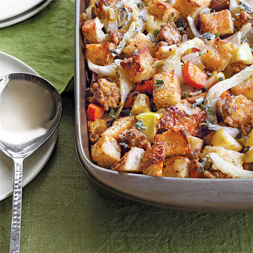 Fennel, Sausage & Caramelized-Apple Stuffing