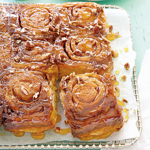 Caramel-Pecan Sticky Buns - Fall Baking Favorites - Cooking Light