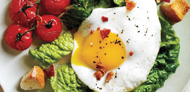BLT Salad with Eggs Sunny-Side Up