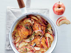 Skillet Apple Chicken Thighs