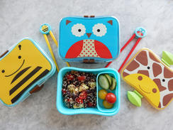 If cute is what you want with your mid-day meal, then Skip Hop has you covered. The boxes' adorable designs are based on everything from animals to the weather, so kids are sure to find a favorite amongst the selection. The perfect size for small stomachs, these lunch boxes also include a snack box. Best part? The whole thing is dishwasher safe and easy to open for tiny hands. Matching chopsticks are sold separately. $9, amazon.com