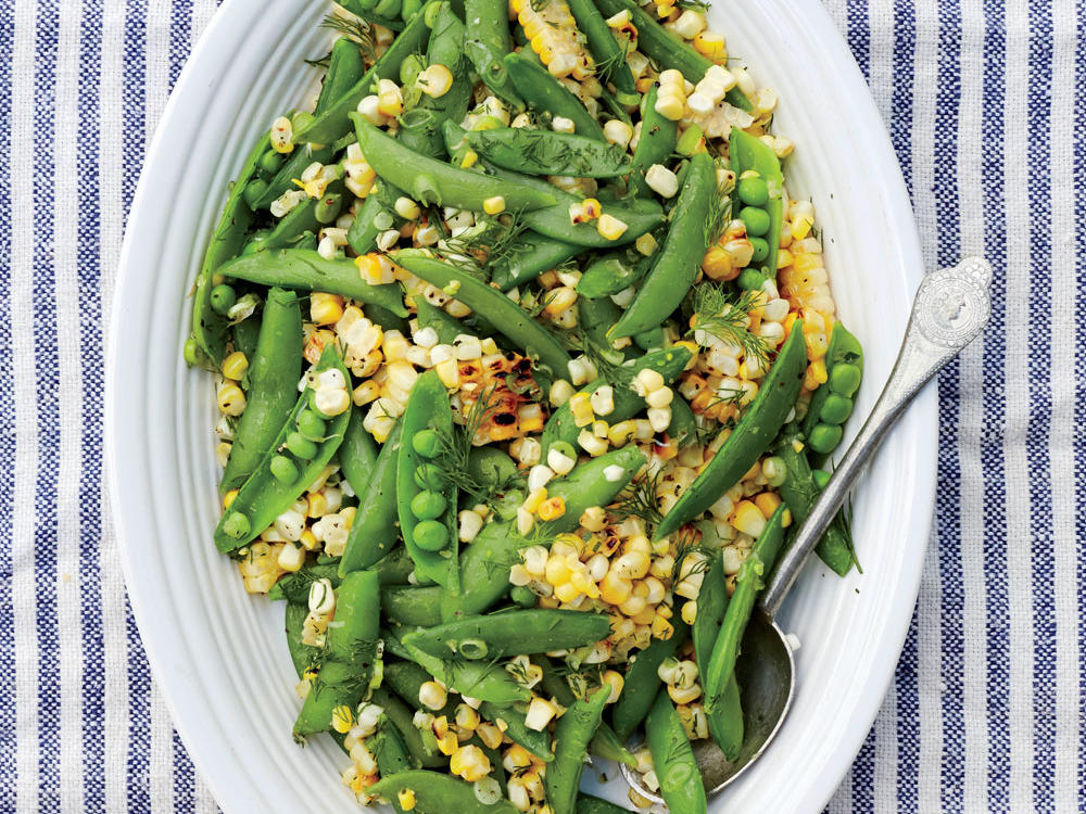 Andrew Zimmern's Grilled Corn and Snap Pea Salad