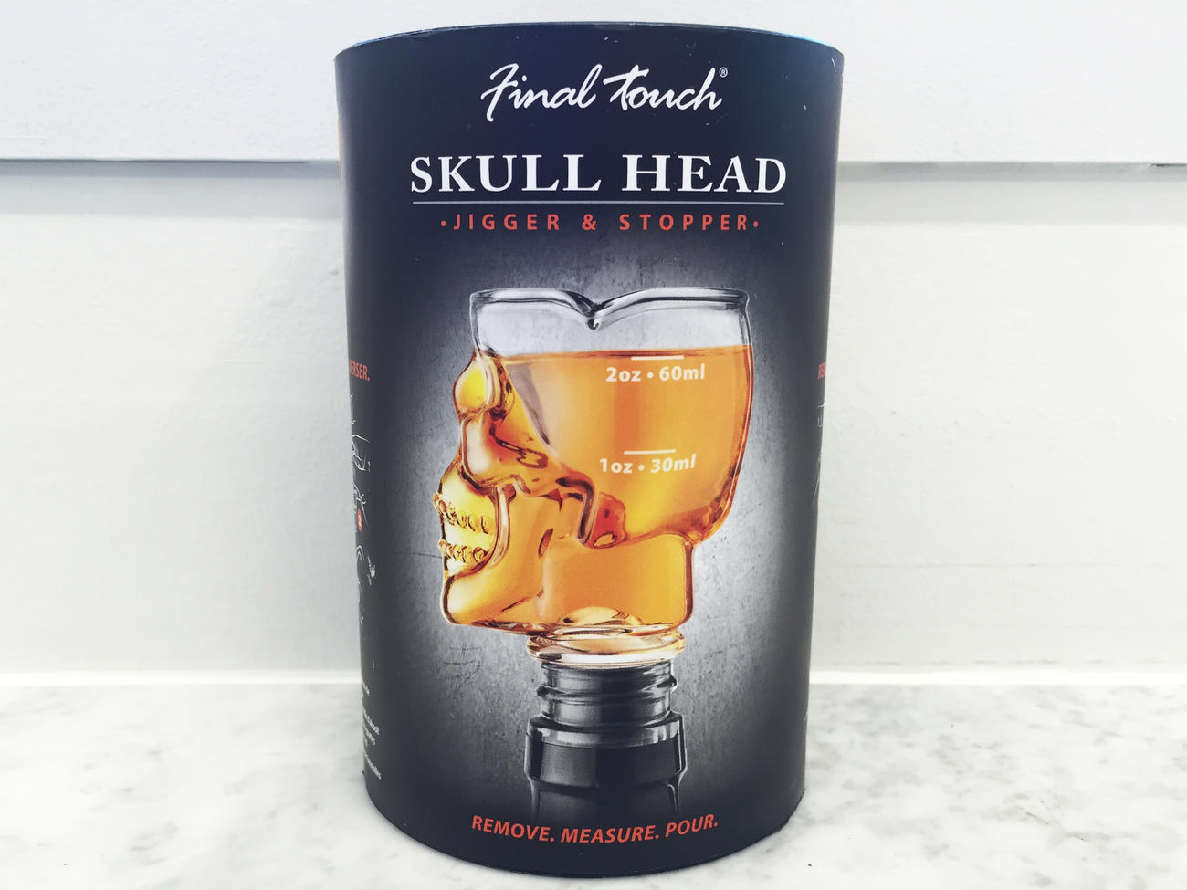 Halloween Hostess Skull Head Jigger