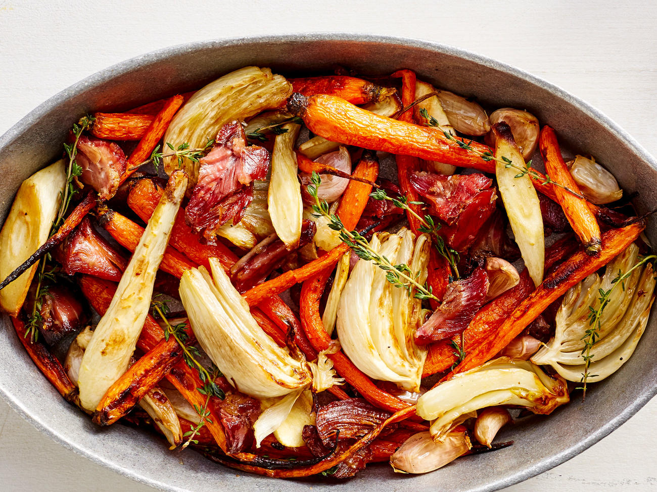 Ham Roasted Vegetables