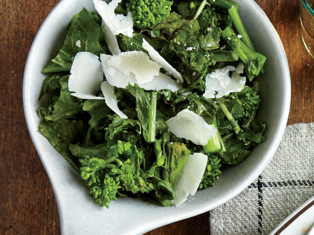 Balsamic-Tossed Parmesan Broccoli Rabe