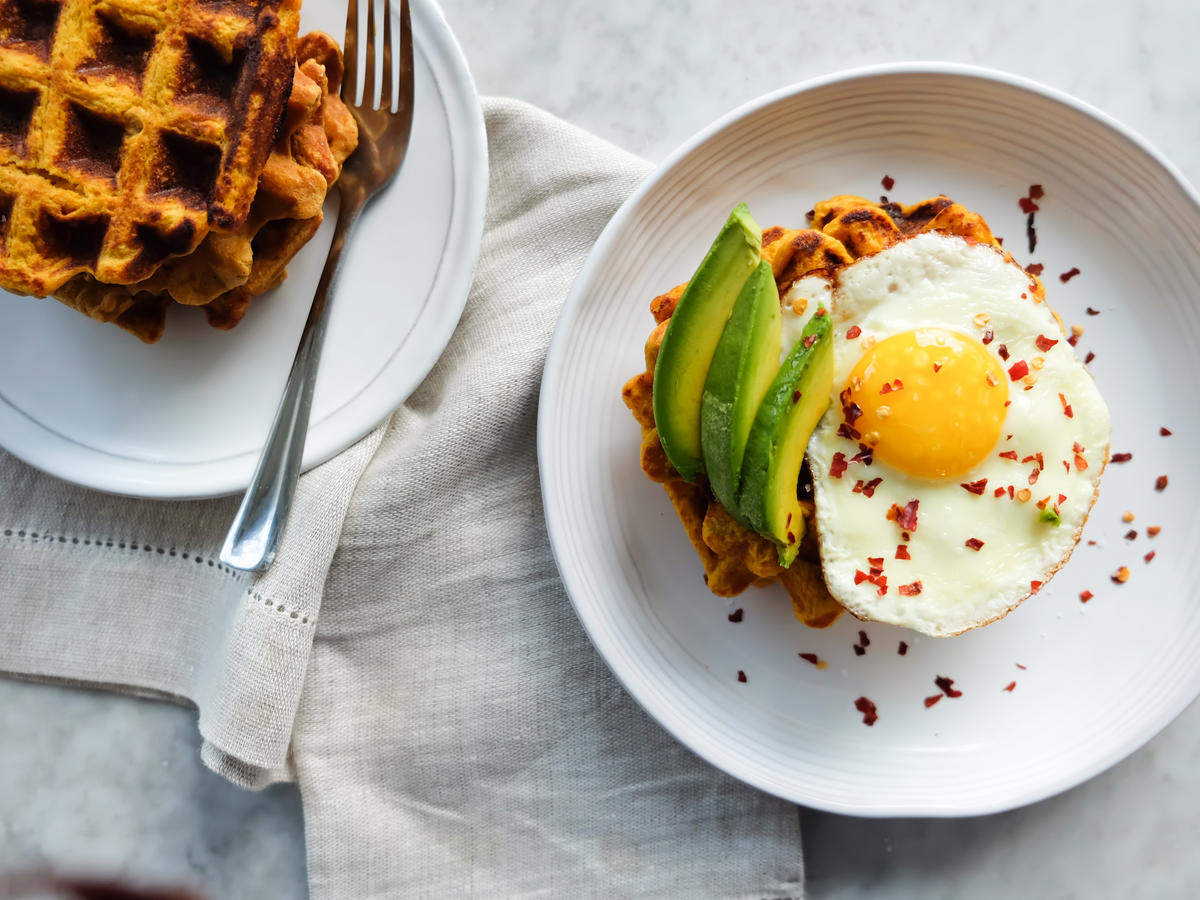 Savory Sweet Potato Waffles