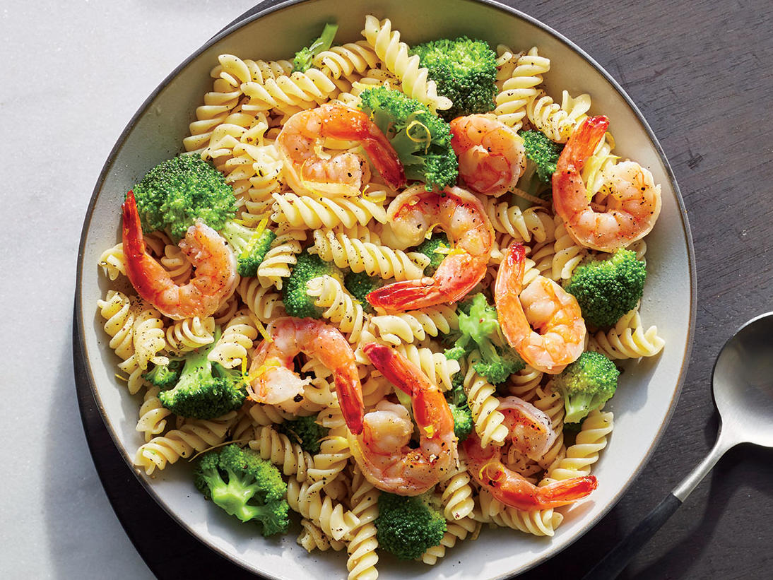 Shrimp And Broccoli Rotini Recipe Cooking Light