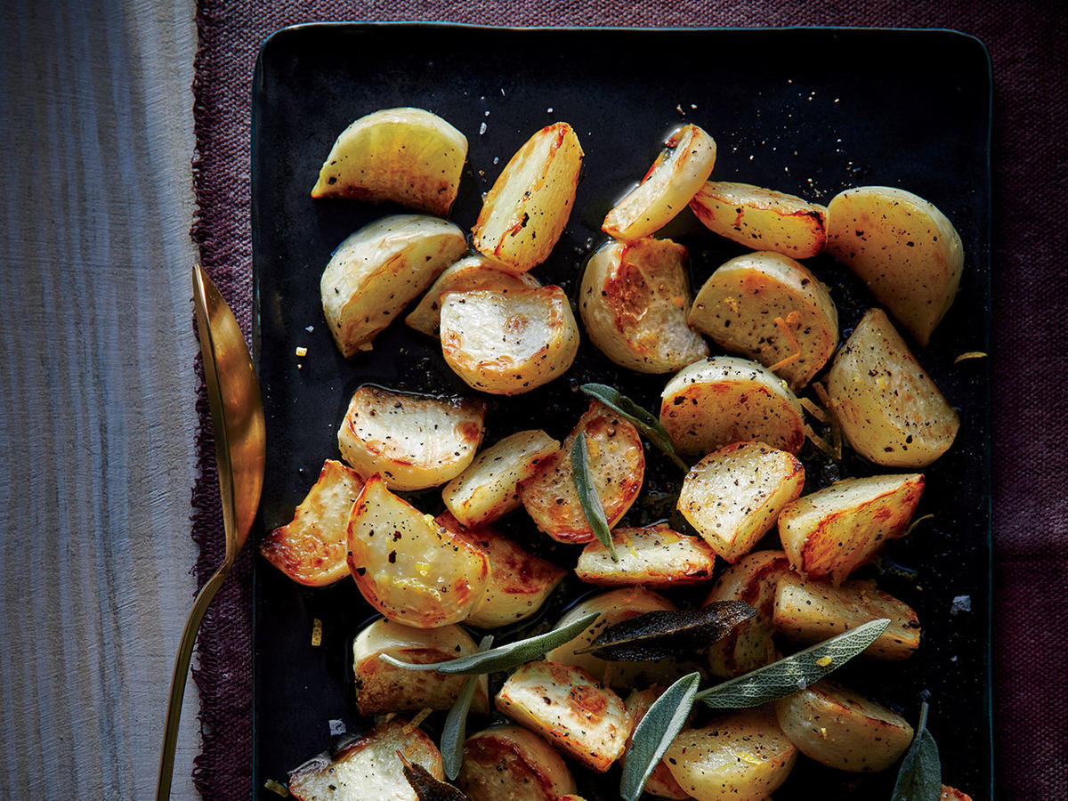 Roasted Turnips With Sage Browned Butter