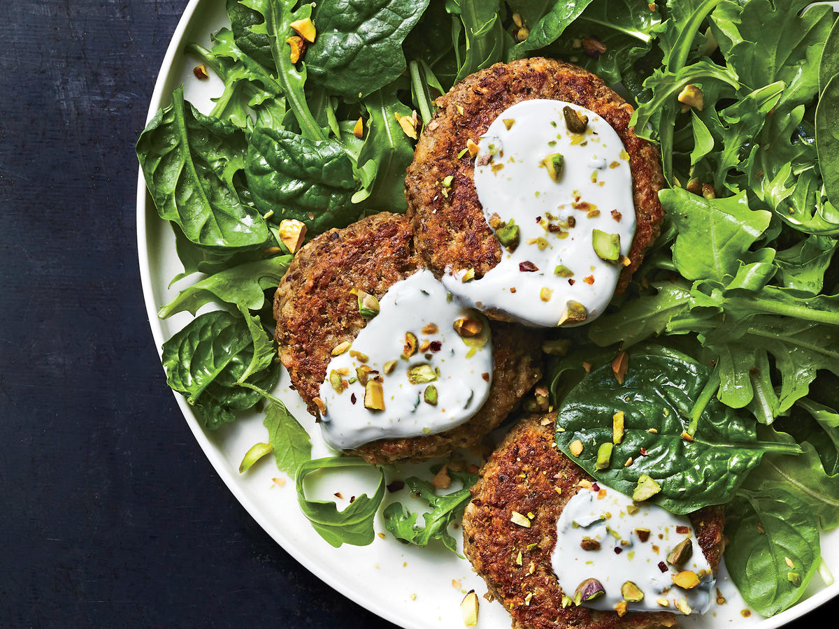 Lentil Cakes with Mint Yogurt