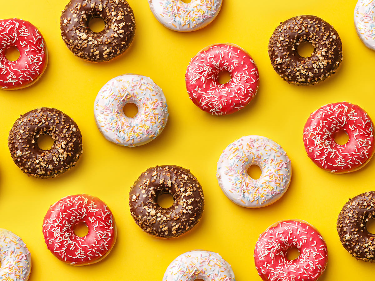 Assorted Colorful Doughnuts