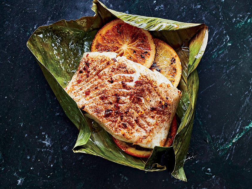 Caribbean-Spiced Fish Wrapped In Banana Leaves