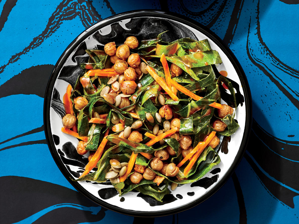 Collard and Chickpea Salad