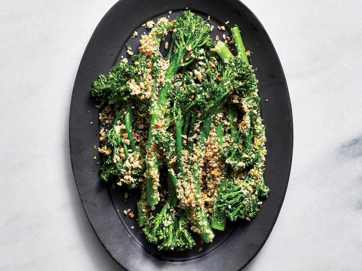 Panko-Crusted Broccolini