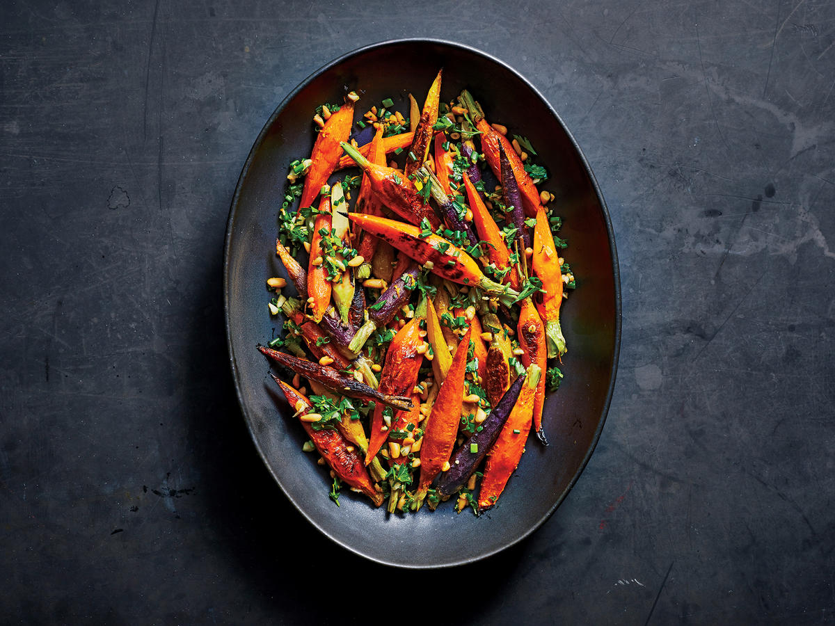 Roasted Carrots with Pine Nut Gremolata