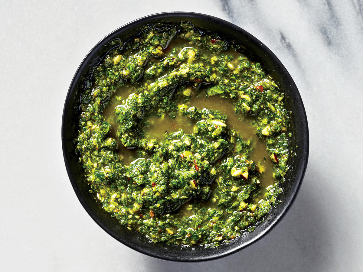 Arugula-Mint Pesto