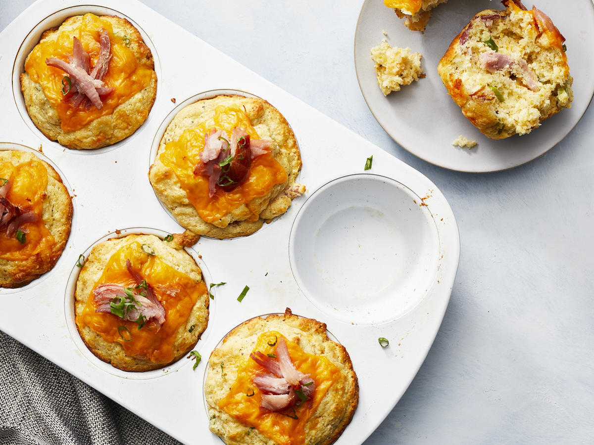 Hearty Ham and Cheddar Cornbread Muffins