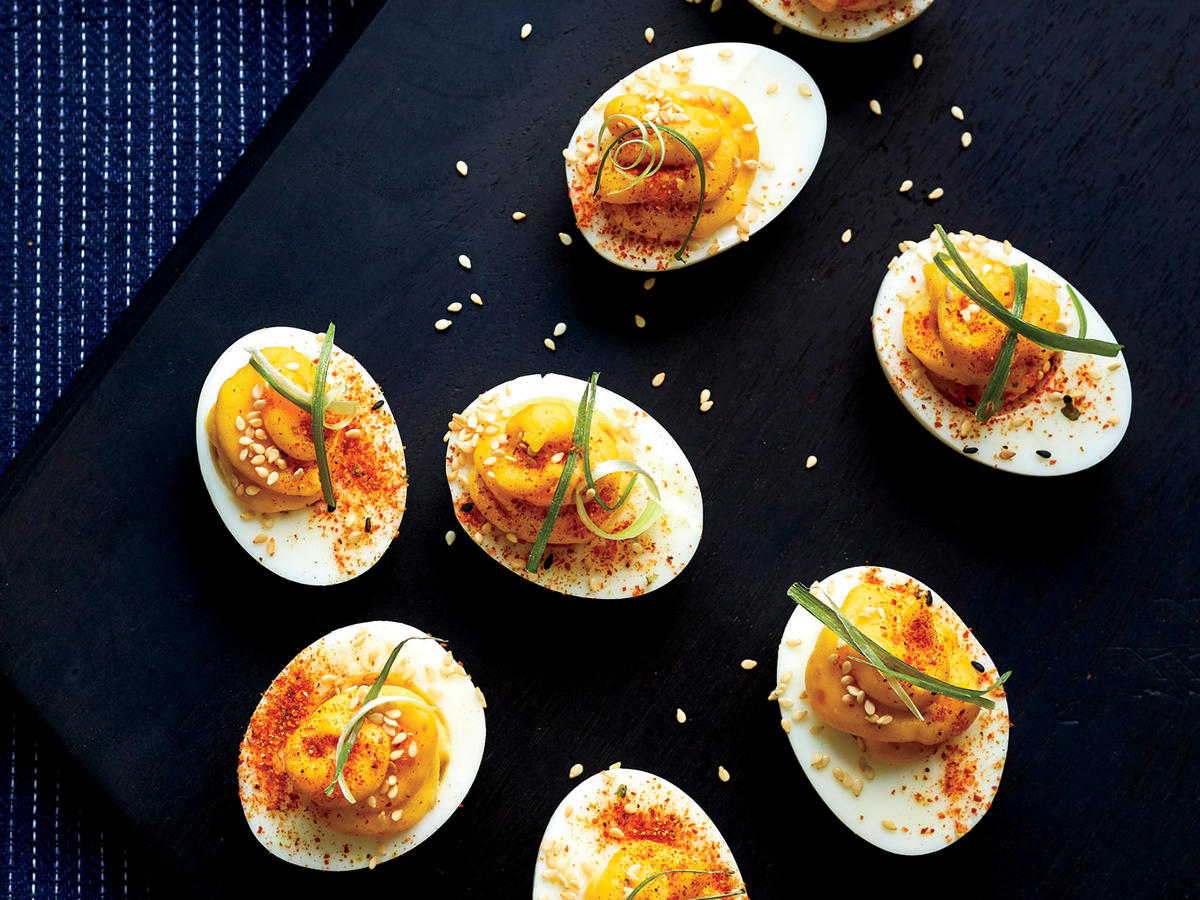 Miso Deviled Eggs