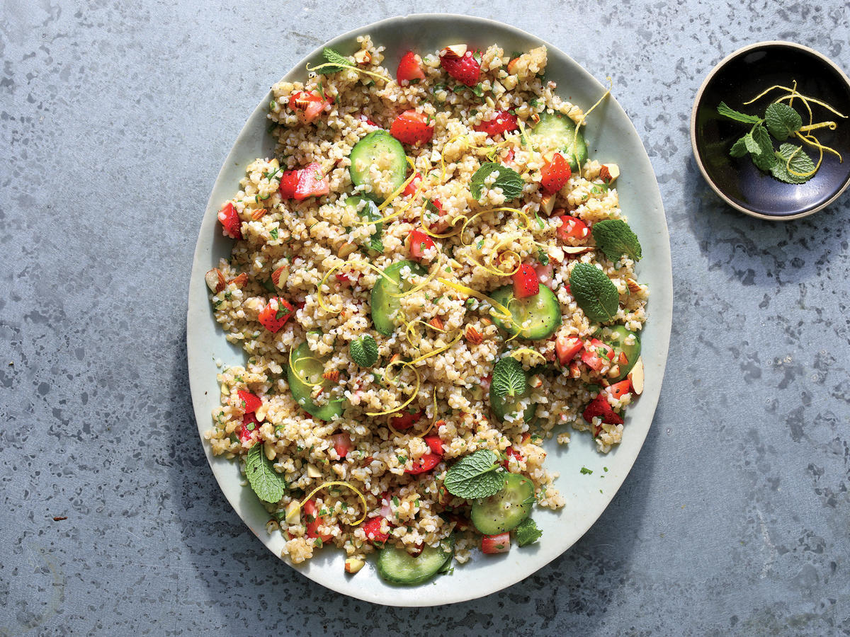 Strawberry and Cucumber Tabbouleh