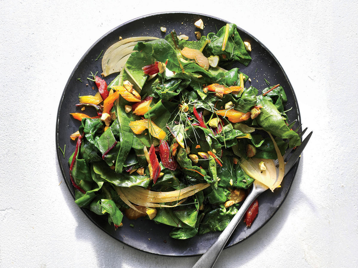 Wilted Chard and Shaved Fennel Salad