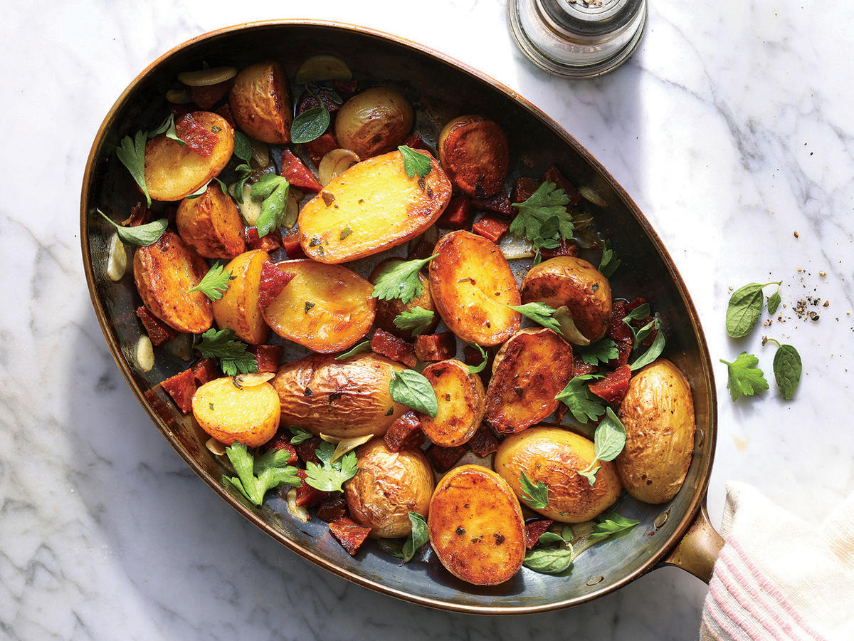 Crispy Potatoes with Chorizo