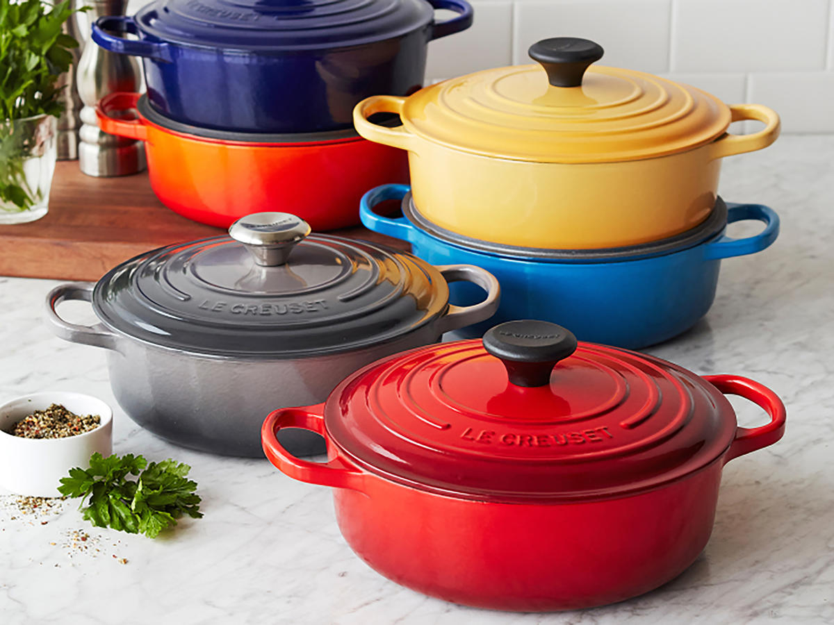 sur la table is selling le creuset for 85 less cooking. Black Bedroom Furniture Sets. Home Design Ideas