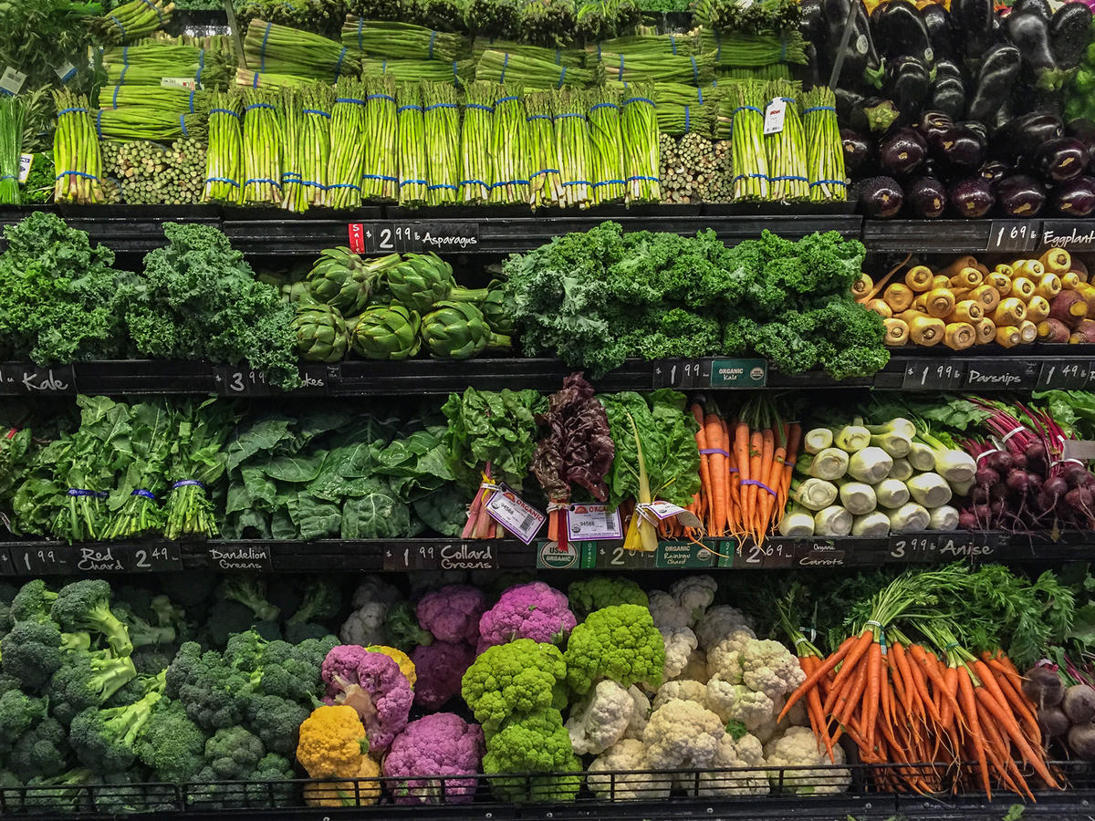 Fresh Vegetables at a Grocery Store