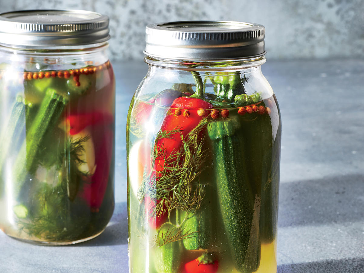 Watch How to Pickle a Large Zucchini in a Bottle video