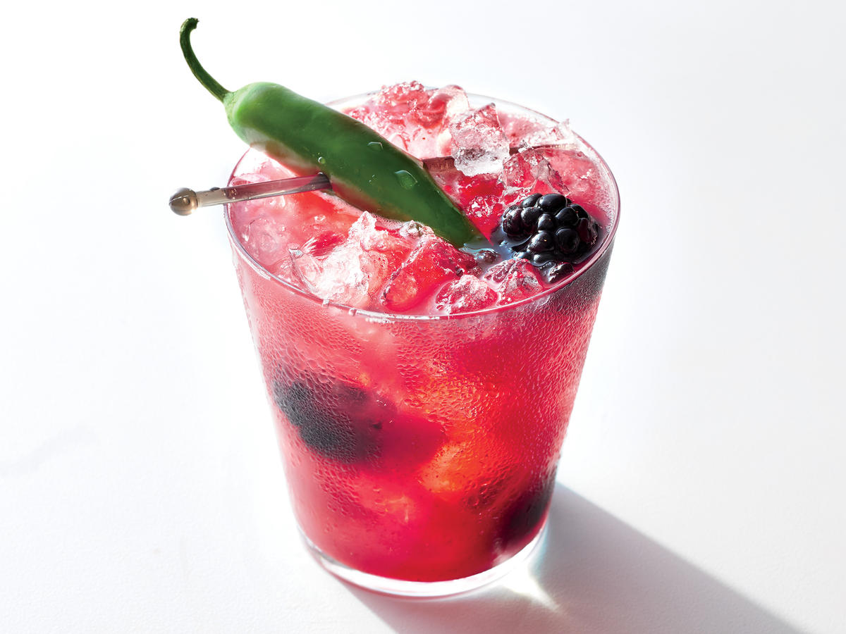 Blackberry-Orange Margarita