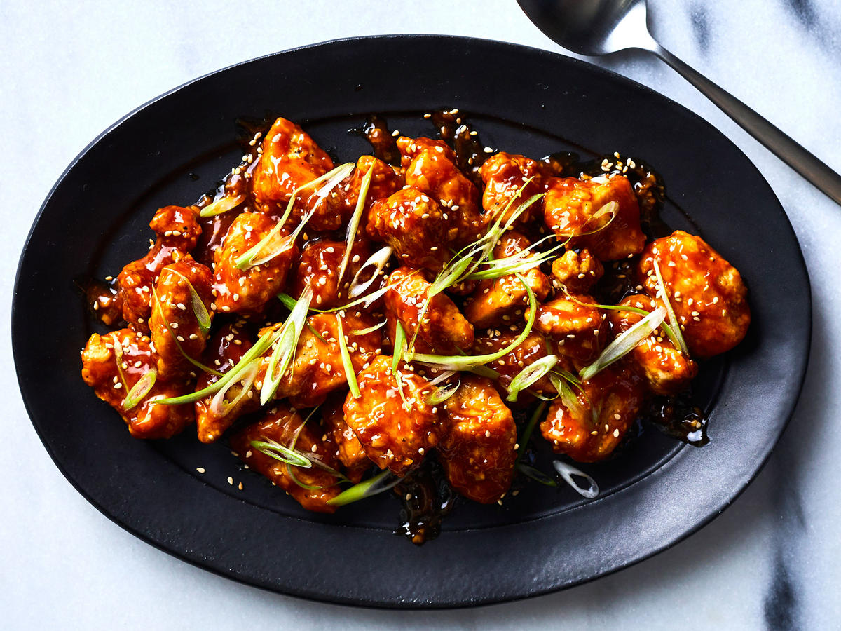 Air-fried General Tso's Chicken