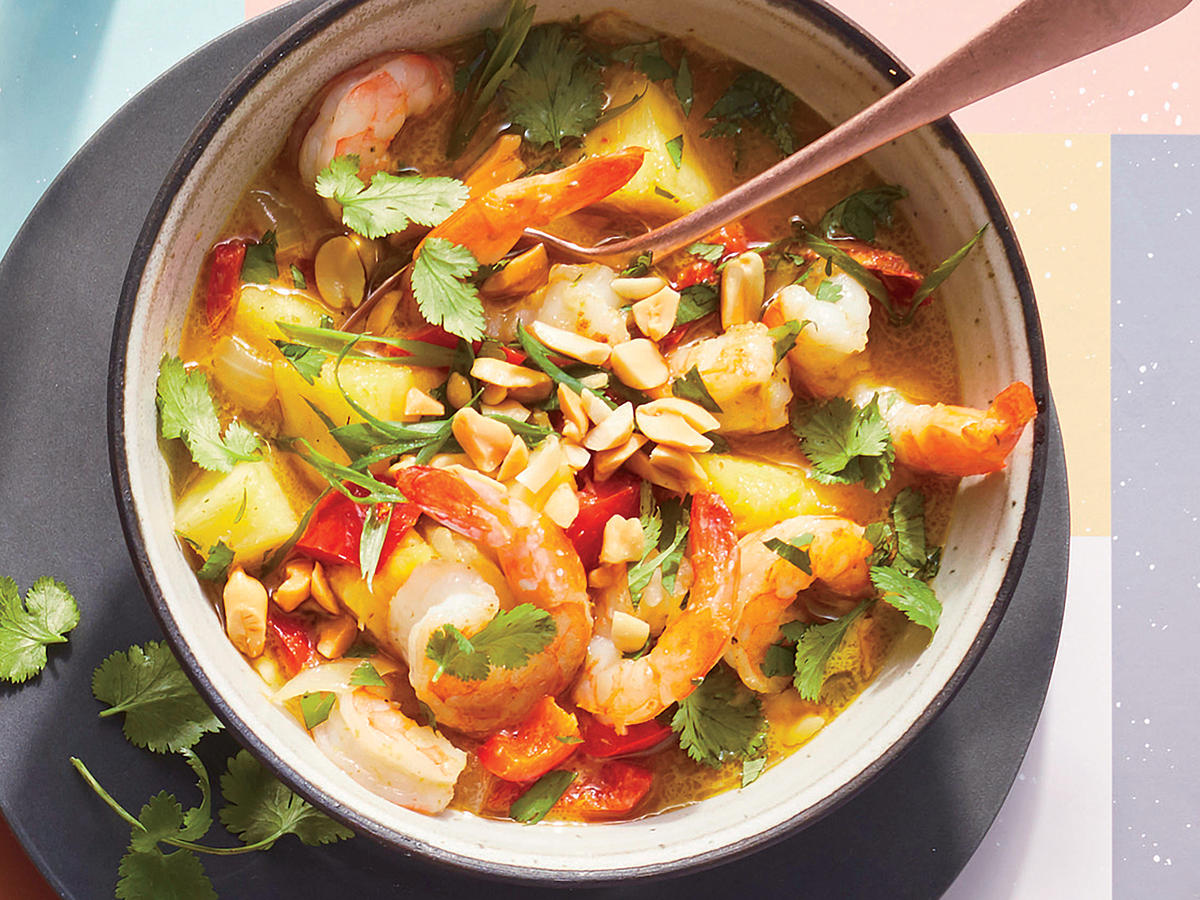 Thai Pineapple Shrimp Curry