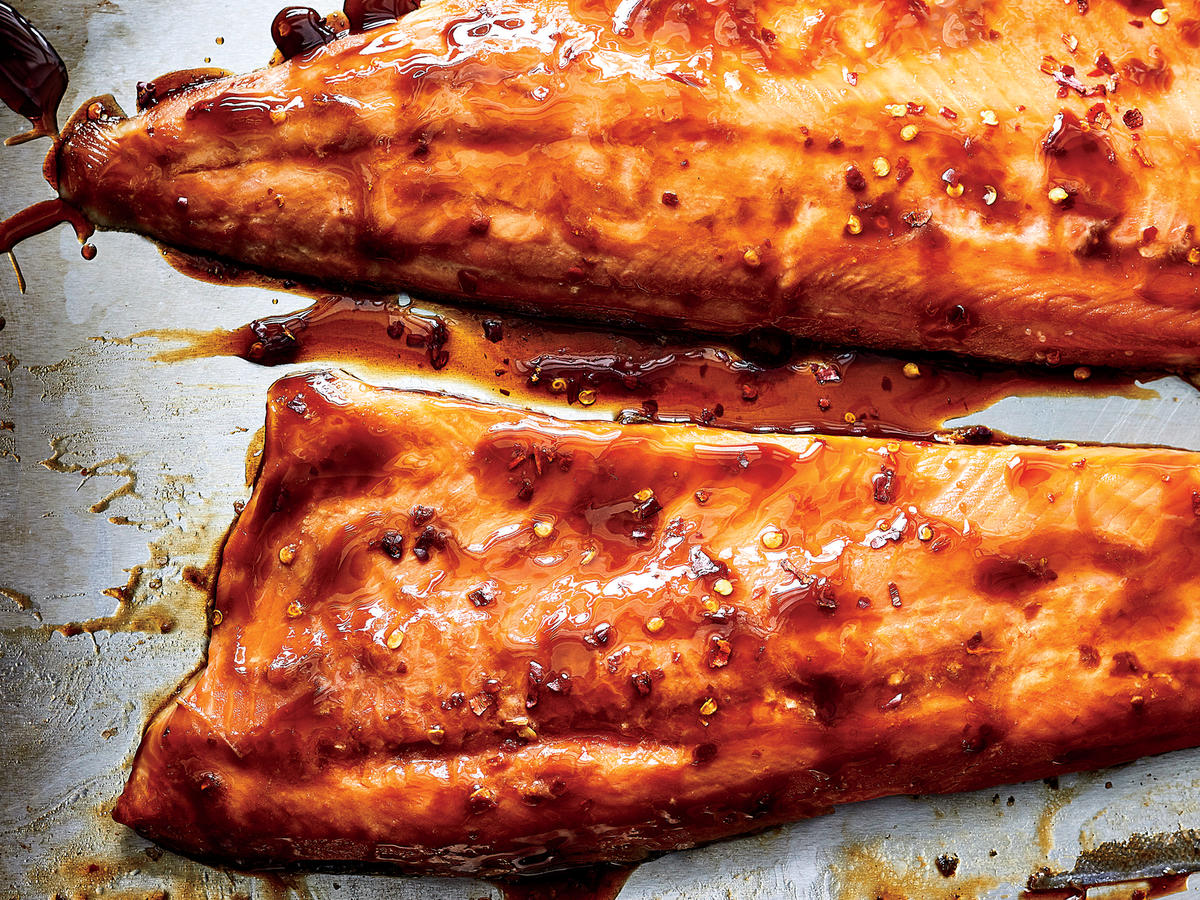 Slow-Roasted Arctic Char With Soy Glaze