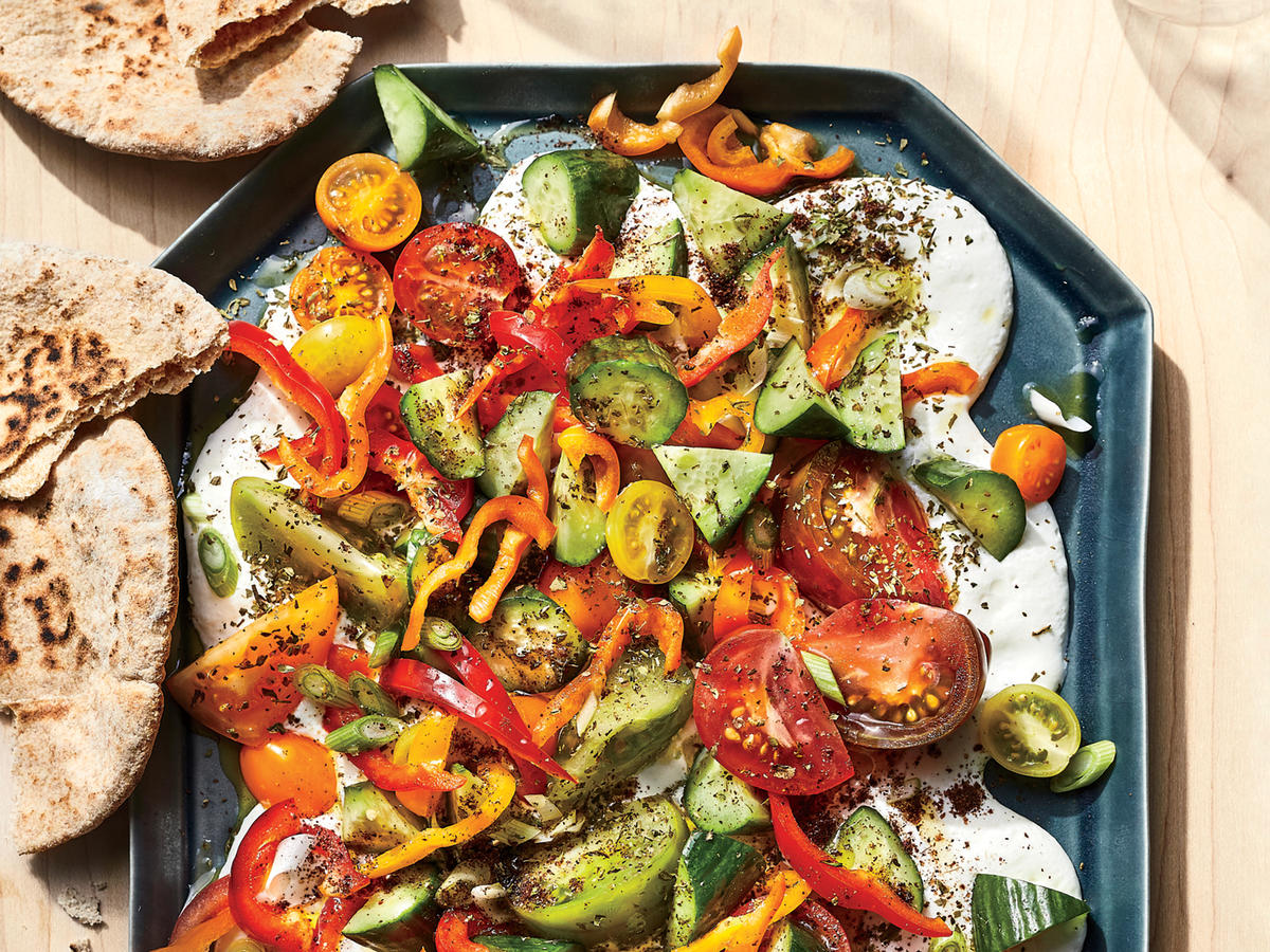 Tomato-cucumber Salad with Whipped Ricotta