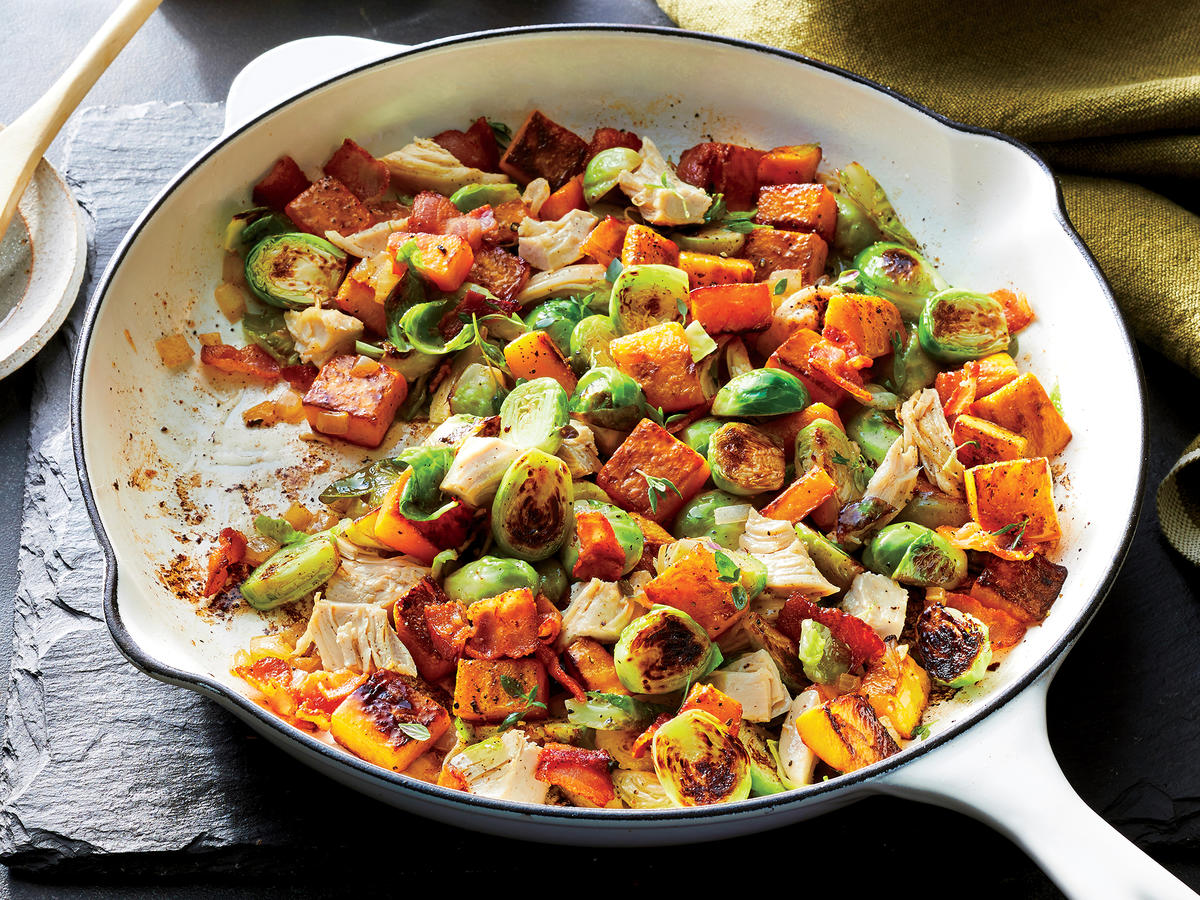 Get in Your Daily Dose of Veggies With This Easy Chicken and Butternut Squash Hash