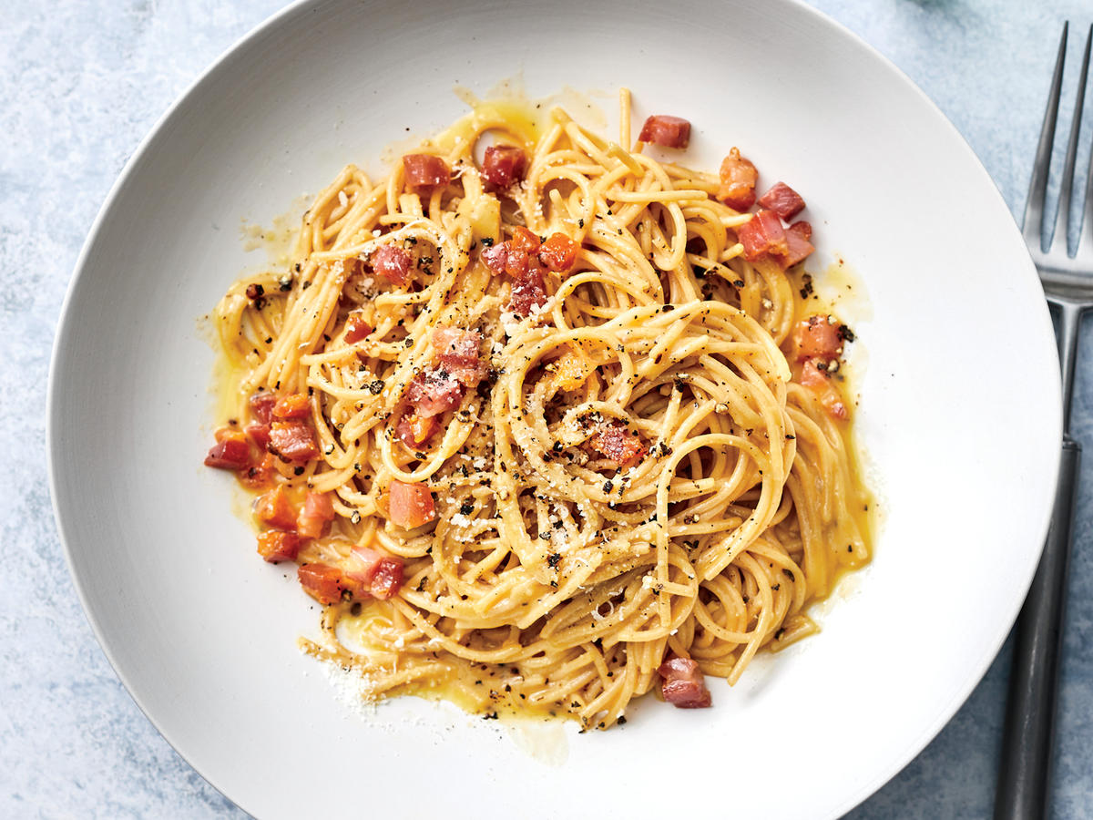 Our Whole-Wheat Pasta Carbonara Has Less Than 350 Calories Per Serving Recipe - Cooking Light