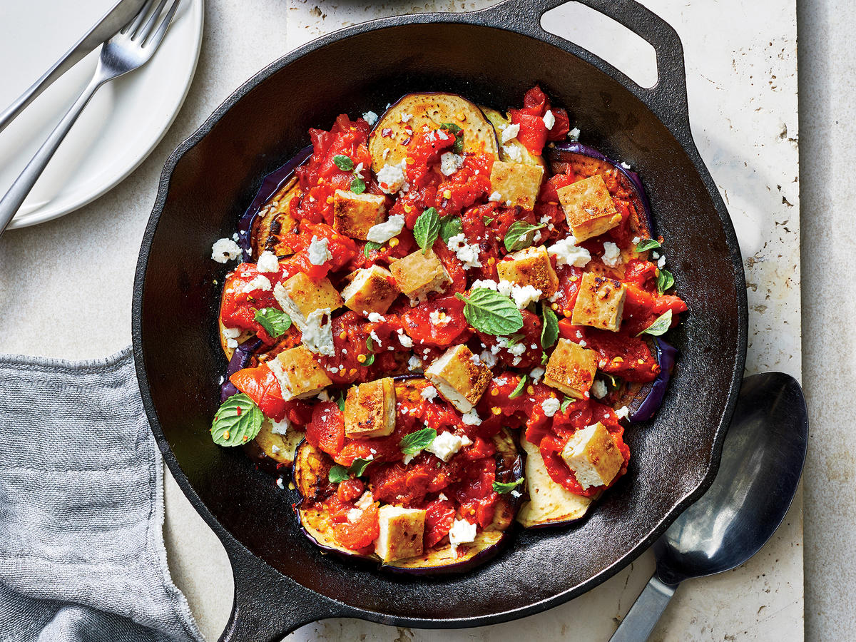 You'll Only Need One Skillet for This Greek Eggplant Dinner