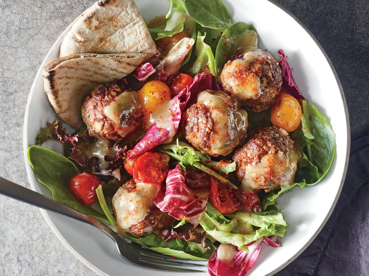Aleppo-Spiced Meatball Salad