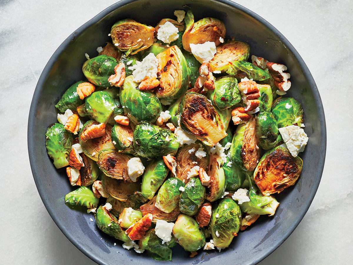 Tangy Glazed Brussels Sprouts