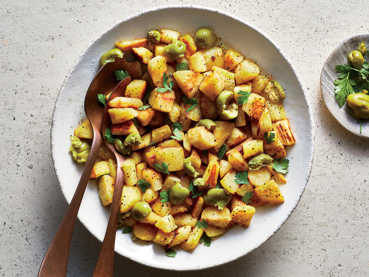 Roasted Parsnips with Olives