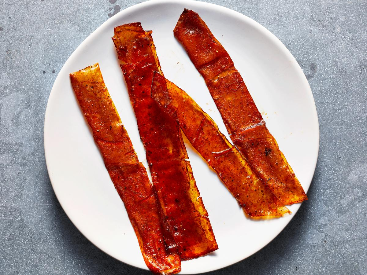 vegan rice paper bacon