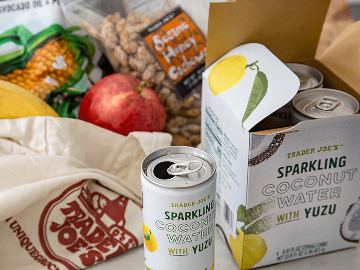 Trader Joe's Releases Sparkling Coconut Water With Yuzu, and Now We Want It to Be Summer Again