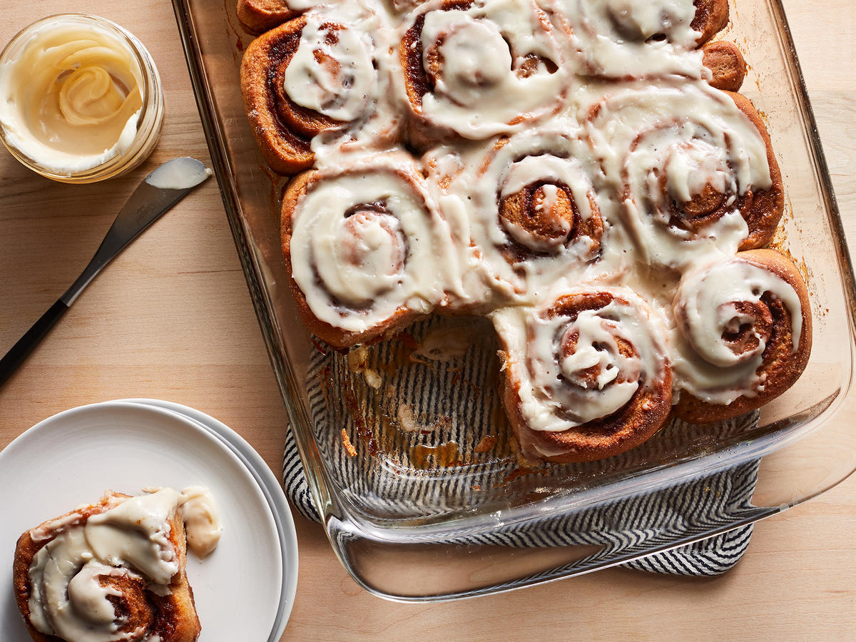 Whole Wheat Cinnamon Rolls With Maple Glaze