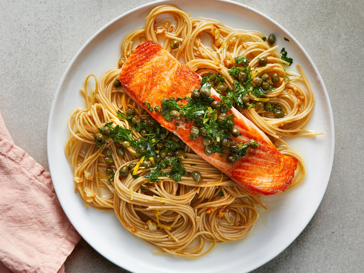 Salmon Piccata Pasta - Cooking Light
