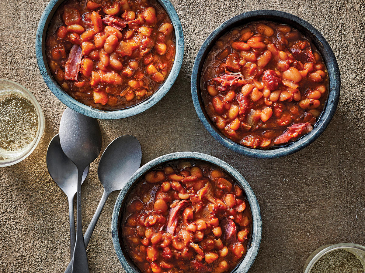Slow Cooker Cherry Baked Beans