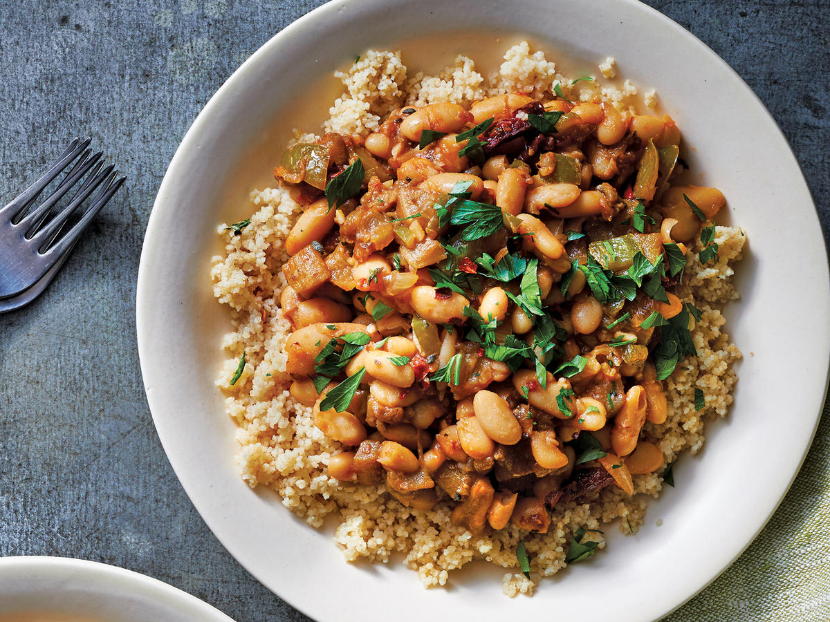 Slow Cooker Eggplant-And-White Bean Ragout