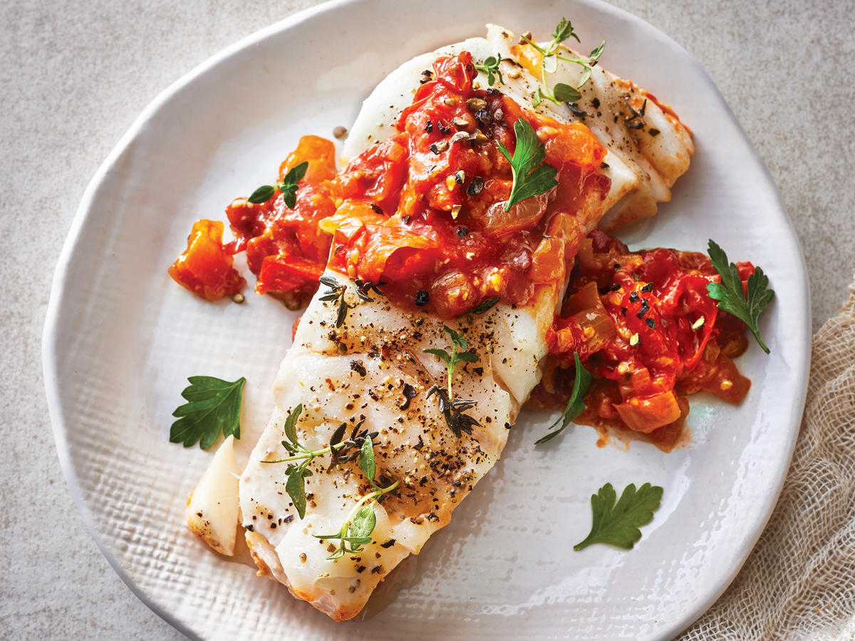 Slow-Cooker Cod With Tomato-Balsamic Jam - Cooking Light