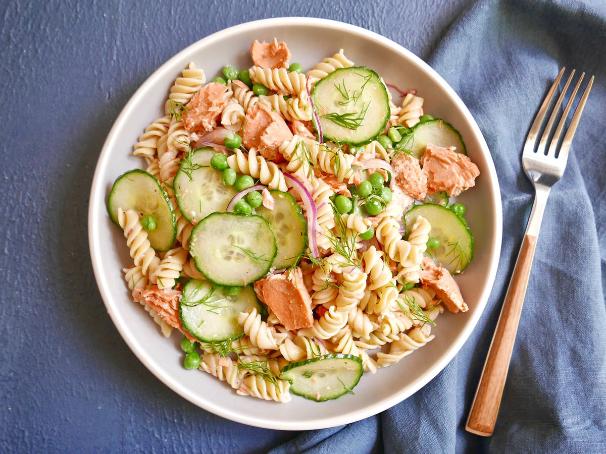 Lemon-Dill Salmon Pasta Salad
