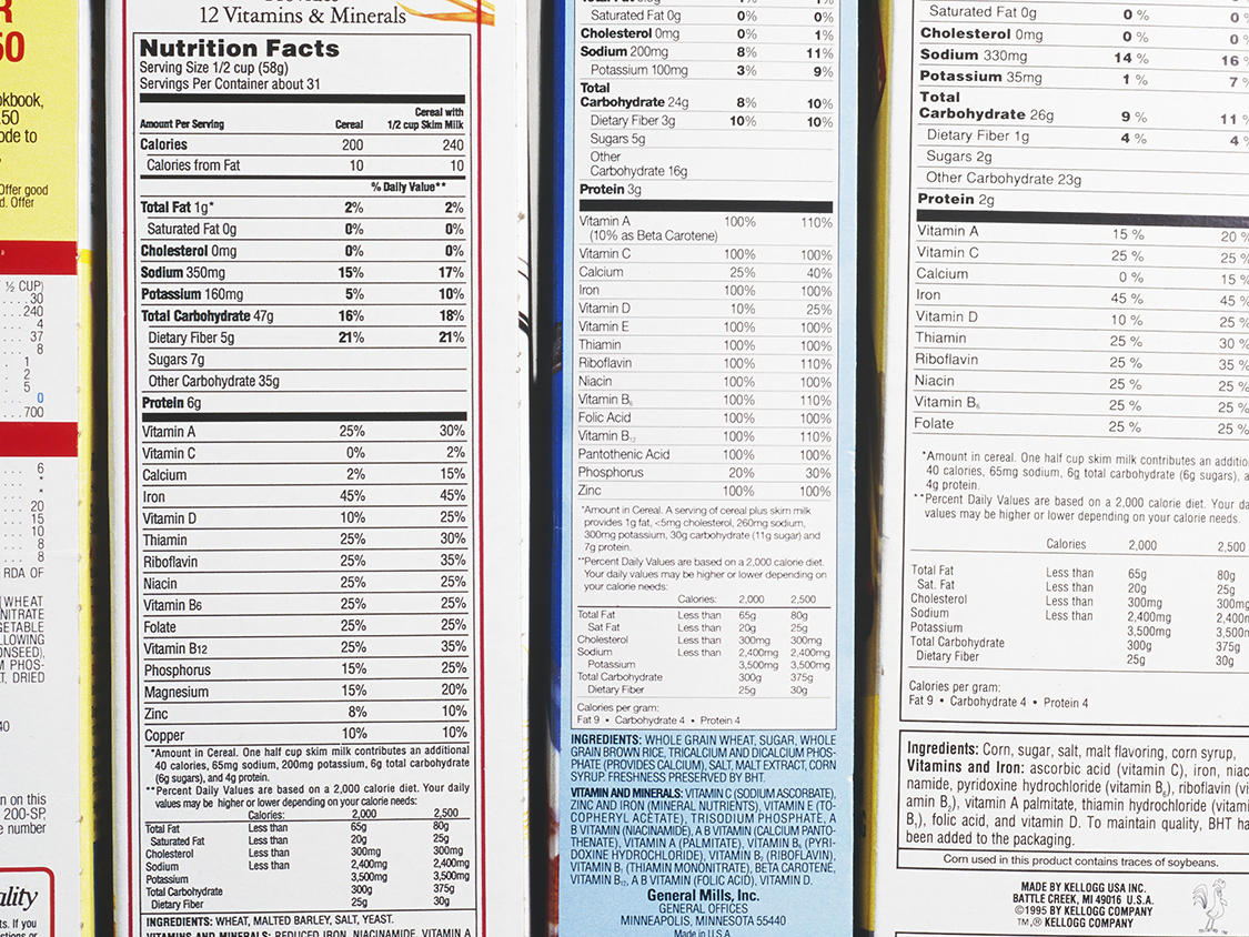 these companies already have the new nutritional label – cooking light